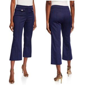 NWT Navy Michael Kors Cropped Flare Pants Size 4